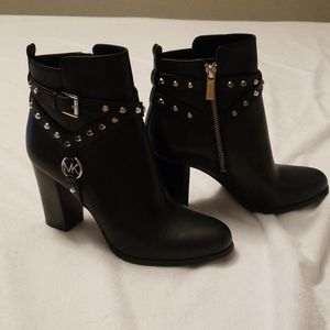 Preston studed leather ankle boots